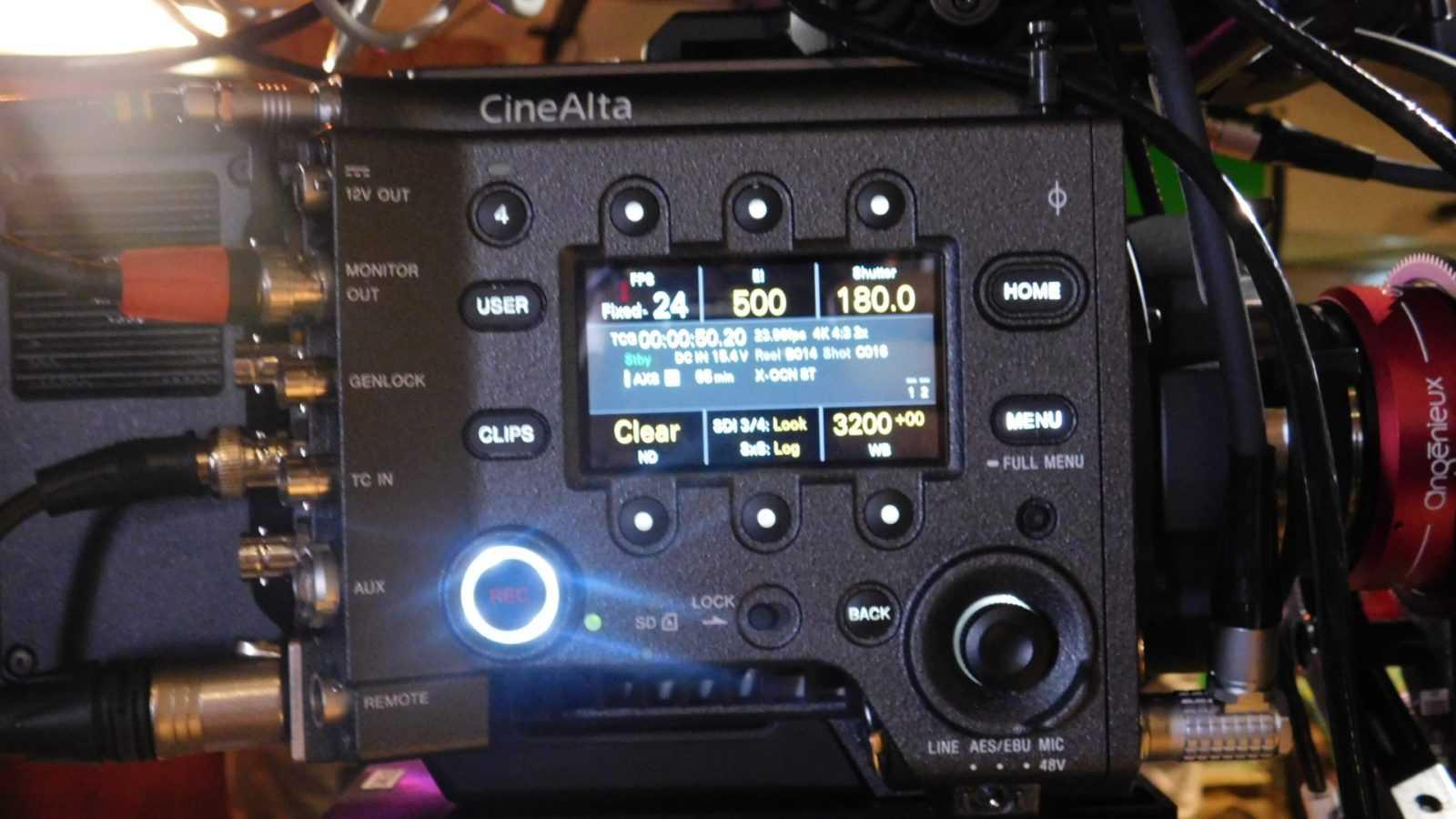 Il pannello di controllo della Sony CineAlta Venice