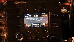 Sony Cinealta Venice pannello di controllo